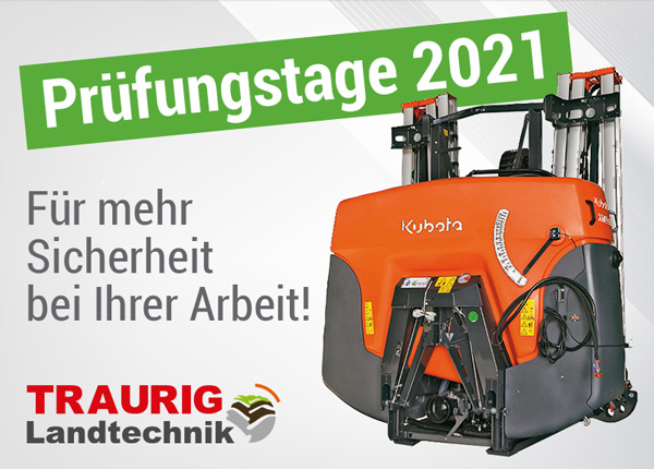 Feldspritzen - Prüftage 2021